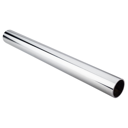 "Polished Chrome  1-5/16"" Diameter  x 8' Round Steel Closet Rod"