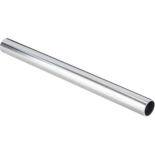 "Polished Chrome  1-5/16"" Diameter  x 8' Round Aluminum Closet Rod"
