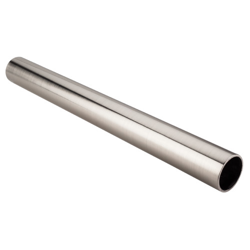 "Satin Nickel 1-5/16"" Diameter  x 8' Round Steel Closet Rod"