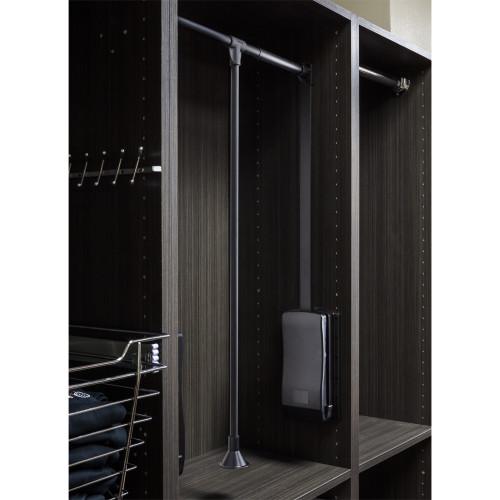 "Black Powder Coat 25-1/2"" -  35"" Expanding Wardrobe Lift"