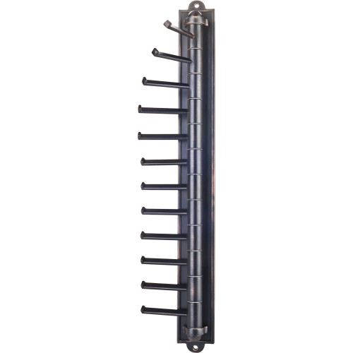 Brushed Oil Rubbed Bronze Brushed Oil Rubbed Bronze Screw Mounted Cascading Tie Rack