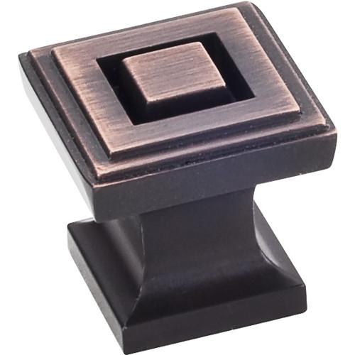 """Brushed Oil Rubbed Bronze 1"""" O.L. Delmar Knob"""