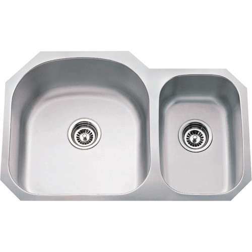 Stainless Steel (18 Gauge) Kitchen Sink with Two Unequal Bow