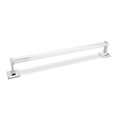 "Polished Chrome Elements Bridgeport 18"" Towel Bar.  (White Box)"