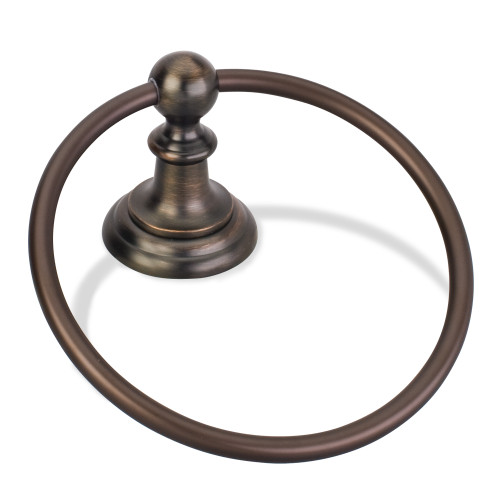 Brushed Oil Rubbed Bronze Elements Fairview Towel Ring.  (White Box)