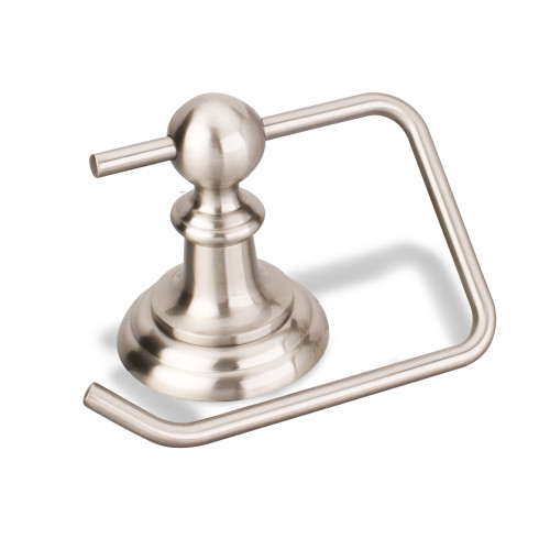 Satin Nickel Elements Fairview Euro Paper Holder.  (White Box)