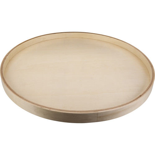 "UV Coated 18"" Round Banded Lazy Susan with Swivel Preinstalled"