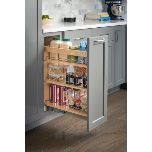 """UV Coated 10"""" x 21"""" x 24"""" Base Cabinet Pullout with Soft-close"""