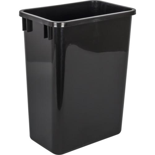 Black 35 Quart Plastic Waste Container