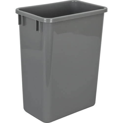 Grey Gray 35 Quart Plastic Waste Container