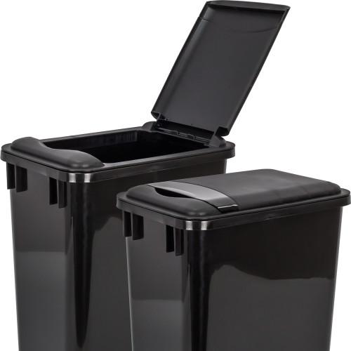 Black Lid for 35 Quart Plastic Waste Container