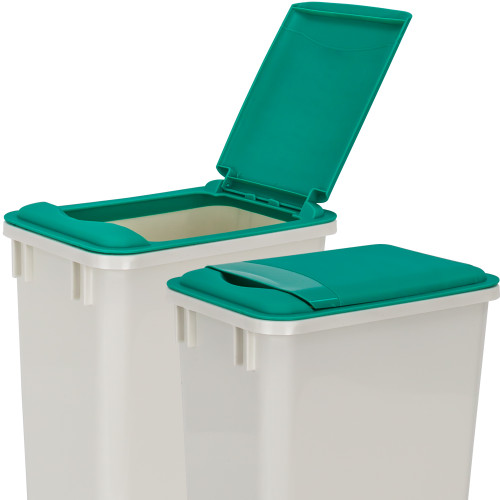 Green Green Lid for 35 Quart Plastic Waste Container
