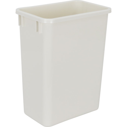 White 35 Quart Plastic Waste Container