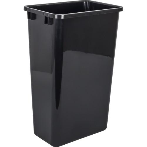 Black 50 Quart Plastic Waste Container