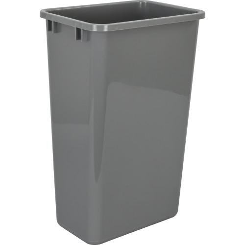 Grey Gray 50 Quart Plastic Waste Container