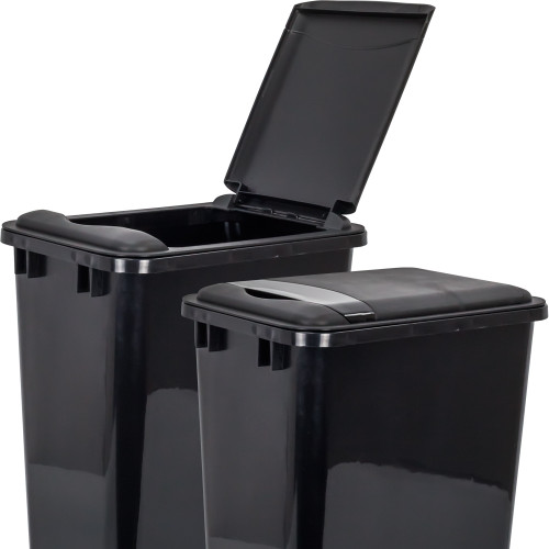 Black Lid for 50 Quart Plastic Waste Container