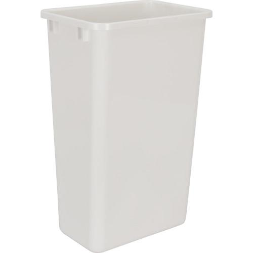 White 50 Quart Plastic Waste Container