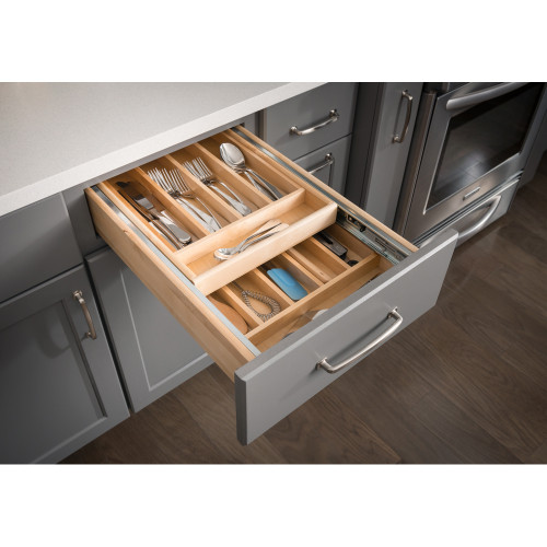 "UV Coated 18"" Double Cutlery Drawer"