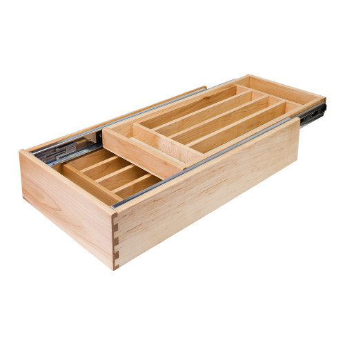"UV Coated 24"" Double Cutlery Drawer"