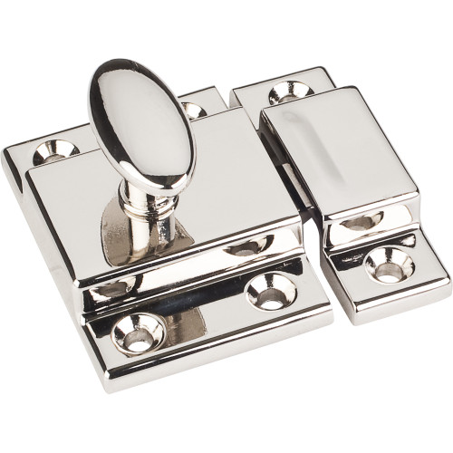 "Polished Nickel 1-3/4"" Cabinet Latch"