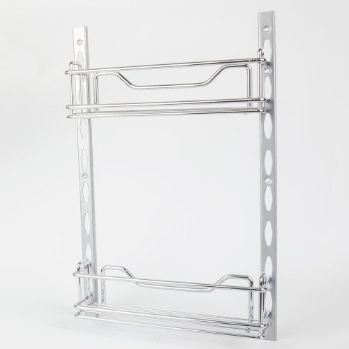 "Chrome 3"" Deep Door Mounted Tray System Kit in Polished Chrome"