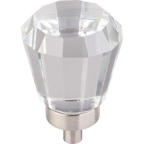 "Satin Nickel 1"" Diameter Harlow Small Tapered Glass Knob"