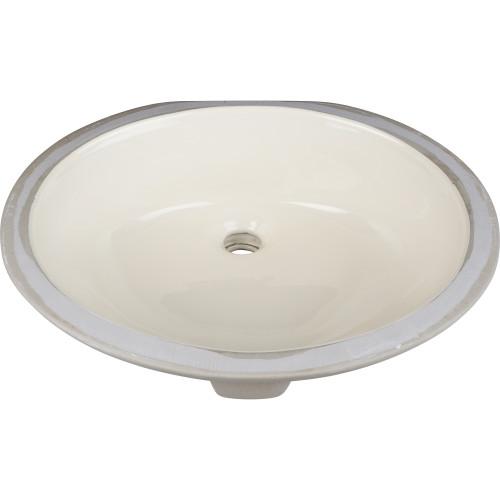 """Parchment 17"""" x 14"""" Undermount Porcelain Sink Basin."""