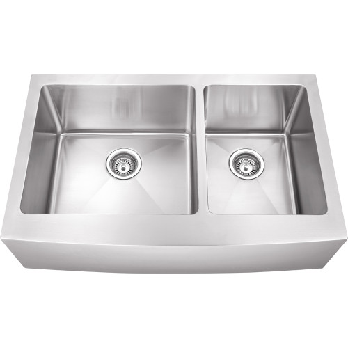 Stainless Steel (16 Gauge) Fabricated Farmhouse Kitchen Sink