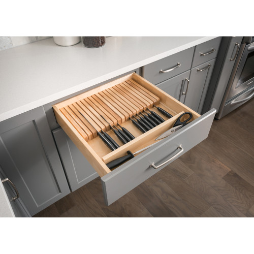 UV Coated Knife Organizer Drawer Insert