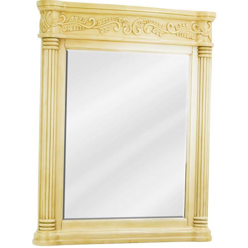 """Antique White Antique Ornate Jeffrey Alexander Mirror 33-11/16"""" x 3-1/2"""" x"""