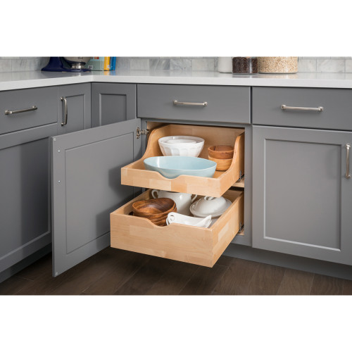 """UV Coated 13-1/4"""" Preassembled Rollout Drawer for 15"""" Cabinet Opening"""
