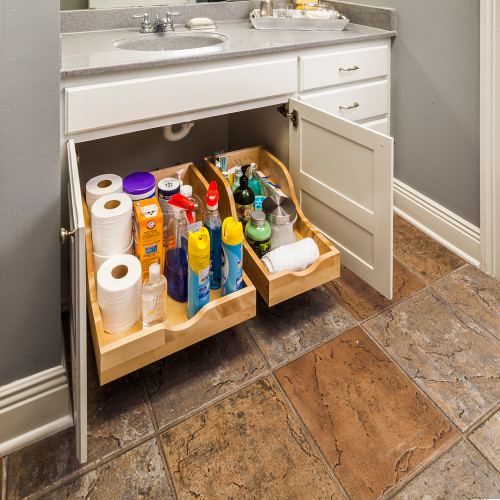 """UV Coated 10-1/16"""" Preassembled Vanity Depth High Back Rollout Drawer"""