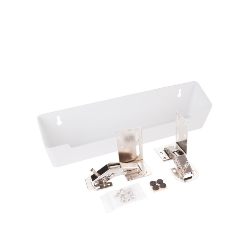 """White 11-11/16"""" Plastic Tipout 2 Tray Set"""