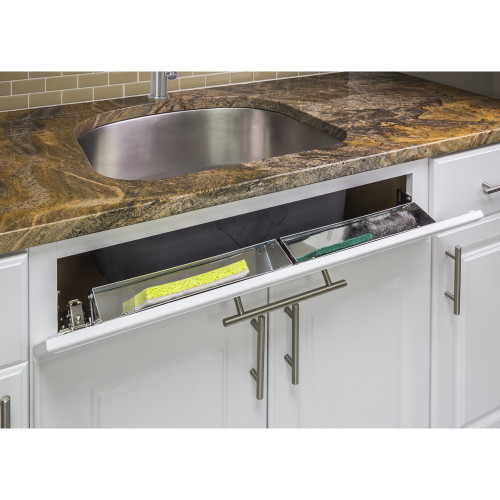 """Stainless Steel Shallow 14-13/16"""" Stainless Steel Tipout Replacement Tray"""