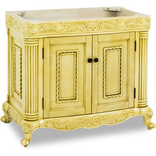 "Antique White Antique Ornate Jeffrey Alexander Vanity   39-11/16"" x 22-1/2"