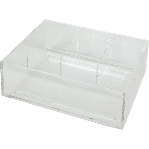 Clear Divided Acrylic Top Tray for Vanity Pullout