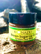 Green Tea Mint  Brown Sugar Lip Scrub