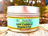 Bergamot & Oud Soy Tin Candle