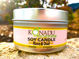 Rose & Oud Soy Tin Candle