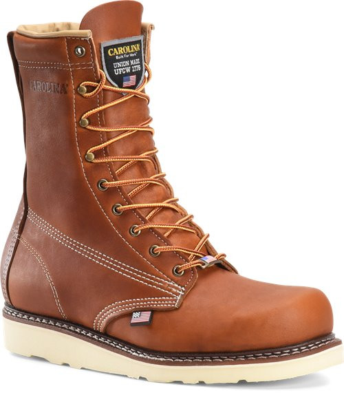 Amp USA 8 Inch Plain Broad Toe Boot CA7001
