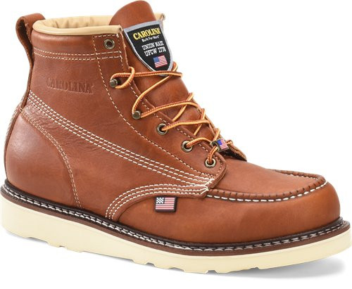 AMP USA Lo 6 Inch Tobacco Moc Soft Toe Boot CA7003