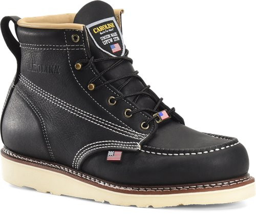 AMP USA Lo 6 Inch Black Stampede Moc Soft Toe Boot CA7012