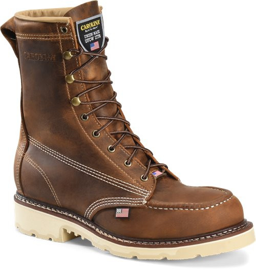 FERRIC USA ST 8 Inch Old Town Folklore Steel Toe Moc Toe Boot CA7516