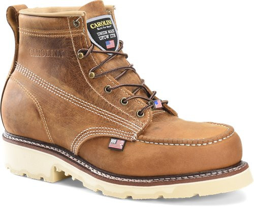 Carolina Ferric USA 6 Inch Old Town Folklore Steel Moc Toe Boot CA7514