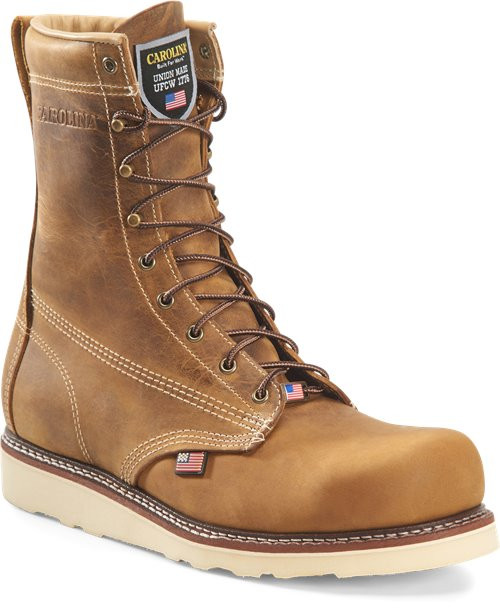 Amp USA 8 Inch Old Town Folklore Wedge Sole Steel Toe Boot CA7505
