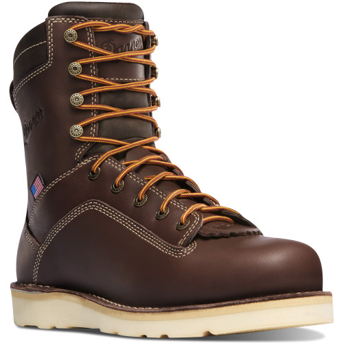 Danner Quarry USA Brown Waterproof Safety Toe Wedge Sole Boot - 17329