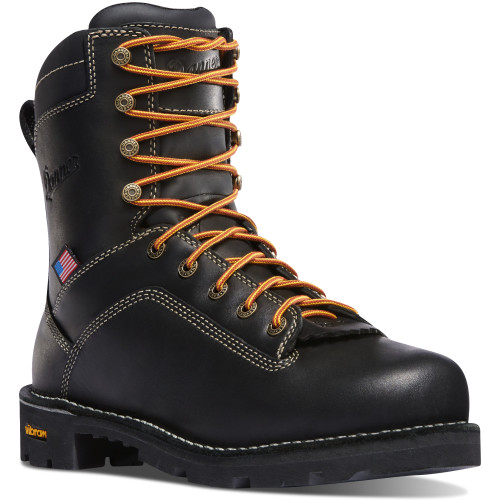 Danner Quarry USA Men's Black Waterproof Safety Toe Boot - 17311