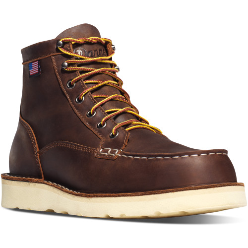 Danner Men's Brown Bull Run Moc Safety Toe Boot- 15564
