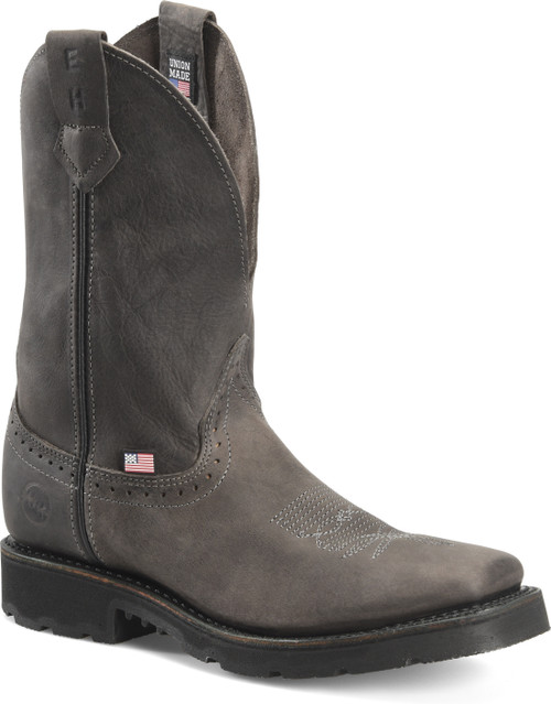 Double H Boot Ryker Rock Black 11 Inch Wide Square Toe Roper DH4562