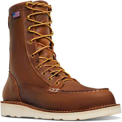 Danner Men's 8 inch Brown Bull Run Moc Safety Toe Boot- 15542